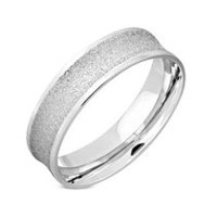Pure316 Women's 6mm Sandblasted Comfort Fit Concave Wedding Band 6