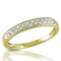 Miabella 1/10 ct Diamond Ring in 10 K Yellow Gold 5.5