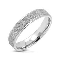 Pure316 Men's Sandblasted Comfort Fit Band Ring 10