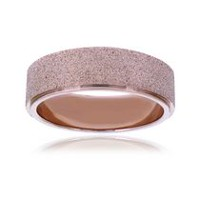 Pure316 Women's Rose Gold Plated Sparkle Ring 6