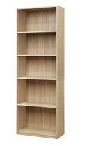 Mainstays 5 Shelf Bookcase True Black Oak