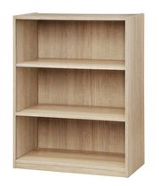 Mainstays 3 Shelf Bookcase True Black Oak