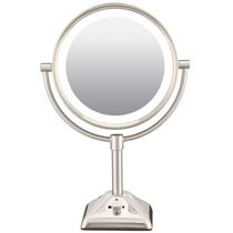Nickel 1X/10X Lighted Mirror