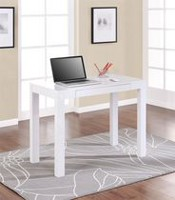 Parsons Desk with Drawer White