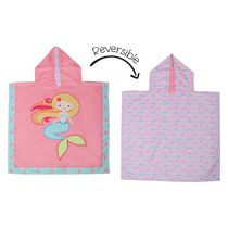 FlapJackKids - Reversible Kids Cover Up - Mermaid / Narwhal - Quick Dry - UPF 50+