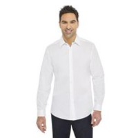 George Men's Slim Fit Dress Shirt White 2XL