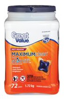 Great Value Misty Meadow Maximum Clean Premium Laundry Pacs, Pack of 72
