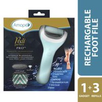Amopé® Pedi Perfect Wet & Dry Rechargeable Foot File