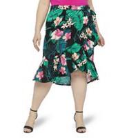 28b911218d3d George Plus Women's Printed Ruffle Skirt