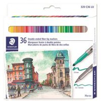 Staedtler Double Ended Fiber Tip Markers
