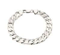 "Sterling Silver 8.5"" Diamond Cut Curb Bracelet"