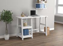 Safdie & Co. Computer Desk White 2 Open Concept Shelves
