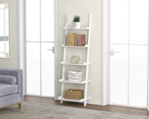 Safdie & Co. Wall Shelf White 5 Tier With Borders