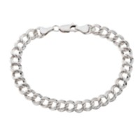 Sterling Silver Parallel Curb Bracelet