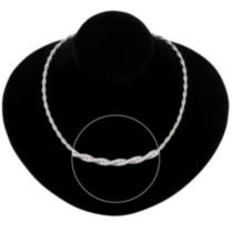 Sterling Silver Twisted Rope Chain - 24""
