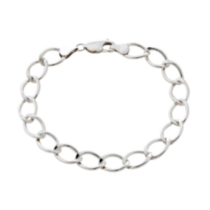 Sterling Silver Curb Chain Bracelet - 8.5""