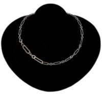 "Sterling Silver 18"" Long/Short Flat Cable Neck Chain"
