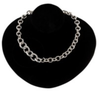 Sterling Silver 18 inches Cable Plain/Knurl Necklace