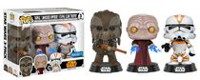 Funko Pop! Star Wars Tarfful, Unhooded Emperor, Utapau Clone Trooper Revenge of the Sith Exclusive Vinyl Figures