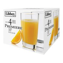 Libbey Glass Premiere Juice Set, 4 Pieces