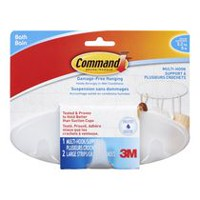 Command™ Multi-Hook with Water-Resistant Strips, BATH21-EF