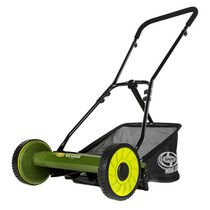 Sun Joe MJ500M Manual Reel Mower w/ Grass Catcher   16 Inch