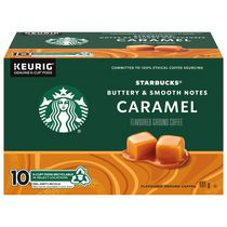 STARBUCKS® Caramel Café aromatisé Café Moulu Aromatisé K-Cup® Capsules 10 unités