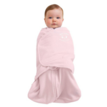 Halo Innovations Safe Dreams Swaddle Wearable Fleece Blanket Soft Pink