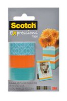 Scotch® Expressions Magic™ Tape, C214-3PK-6-ESF, Classic Triangle, Orange, Turquoise, 19 mm X 7.62 m