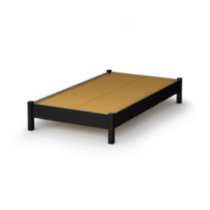 South Shore SoHo Twin 39-inch Platform Bed Black