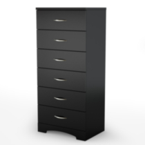 South Shore SoHo 6-Drawer Chest Black