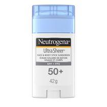 Neutrogena Ultra Sheer Écran solaire en bâton Visage et corps FPS 50+, 42 g