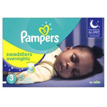 Couches Swaddlers Overnights de Pampers Taille 3