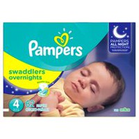 Pampers Swaddlers Overnights Diapers Size 4