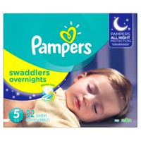 Pampers Swaddlers Overnights Diapers Size 5