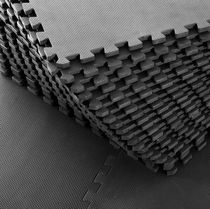 HOMCOM Soft Interlocking Floor Mats 216 Square Feet Waterproof Exercise Workout Mat Kid Play Mat Gymnastics and Home Gym Protective Flooring, 54pcs Black