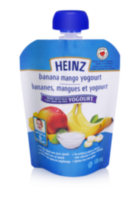 Heinz Strained Banana Mango Yogurt Pouch
