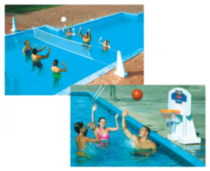 Pool Jam Volleyball/Basketball Combo In Ground Pool Toy