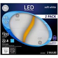 General Electric 10W Soft White LED Bulb BR30 - 2 Pack