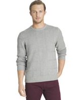 Arrow Men's Cable Button Mock Neck Sweater X-Large