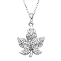 PAJ Sterling Silver Canadian Maple Leaf Pendant