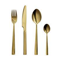 Safdie & Co. Flatware Stainless Steel Karat Gold 16PC Set
