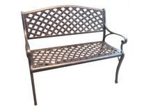 Patio Flare Aluminum Bench - Bronze