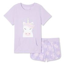 Pyjama 2 pièces avec caleçon boxeur en tissu éponge bouclé George pour filles