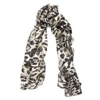 George Women's Oblong Printed Scarf Grey