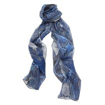 George Women's Oblong Printed Scarf Blue
