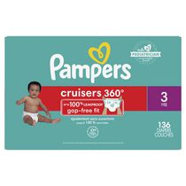 Couches Pampers Cruisers360, format Super Economique