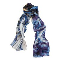 George Women's Wrap Printed Scarf Blue