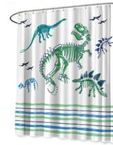 Mainstays Kids White Dyno Shower Curtain