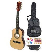 "Pyle 30"" Beginners 6-String Acoustic Guitar with Carrying Case & Accessory Kit"